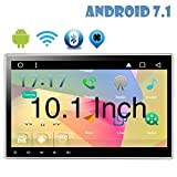 10.1?¡À Latest Android 7.1 Quad Core Double Din Car Stereo 2G 16G GPS Navigation In Dash Car DVD Player with Bluetooth WIFI 4G Capacitive Touchscreen Support AM/FM Reverse Camera Subwoofer