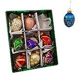 Kurt Adler GG0517 Glass Decorative Egg Ornament, 45mm, Set of 9