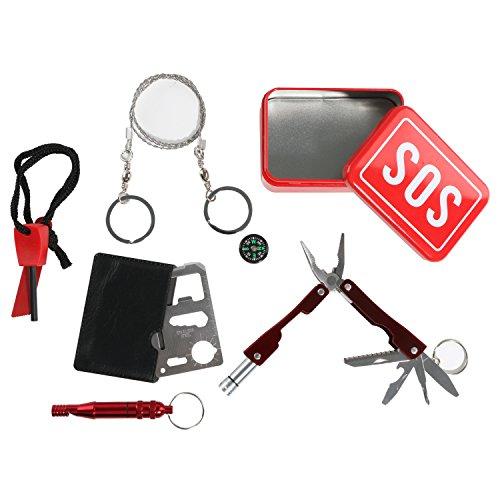 Outdoor Emergency Survival Kit Portable SOS Fist Aid Tools Gear Bundle Set, (Saber Saw Set)