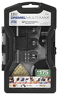 Dremel MM495 Multi-Max Universal Quick-Fit Oscillating Accessory Mega Kit, 13-Piece