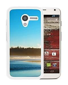New Custom Designed Cover Case For Motorola Moto X With Blue Sea Nature Mobile Wallpaper (2) Phone Case