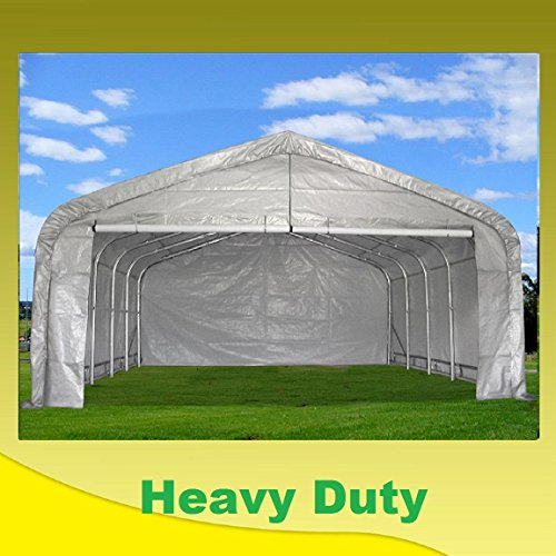 20'x22' Carport Grey/White - Waterproof Storage Canopy Shed Car Truck Boat Garage - By DELTA Canopies by DELTA Canopies