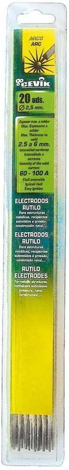 Bl/íster 30 electrodos rutilo 1,6 mm Cevik TEBLI301.6RU