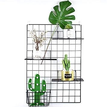 ZONYEO - Rejilla de pared de alambre de malla metálica, tablero de notas, espacio de trabajo u oficina: Amazon.es: Hogar