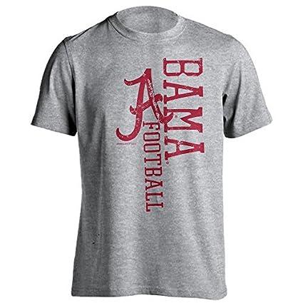 0f7c3a8a3 Alabama Crimson Tide Distressed Football Adult T-Shirt (Athletic Heather,  2X-Large