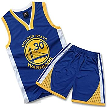 891aa2f0e55 Golden State Warriors #30 Stephen Curry Kids Suit NBA Youth Jersey and  Shorts (Blue2, Youth M (H=130-140cm)), Jerseys - Amazon Canada