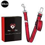 Premium Dog Seat Belt | Pet Safety Seatbelt Keeps Dogs Secure During Car Rides | Easy to Adjust Length to Let Dog Move Around & Safely Look Out the Window | Avoid Accident | Best for Family Trip