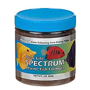 New Life Spectrum Marine Fish Formula 1mm Sinking Pellet Fish Food(Natural Color Enhancing)