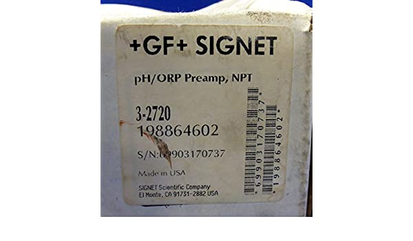 + GF + SIGNET PH/ORP PRE-AMPLIFIER 3-2720 NIB: Amazon.com: Industrial & Scientific