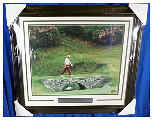 - Jack Nicklaus Autographed Signed Framed 16x20 Photo Masters Bridge - Certified Authentic