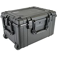Condition 1 25 XL #286 Black Rolling Travel Hard Case Trunk with DIY Customizable Foam