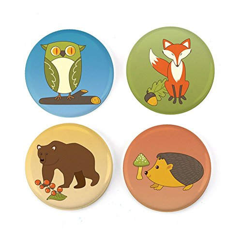 Buttonsmith Cute Creatures Refrigerator Magnet Set - Made in the USA