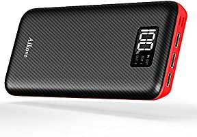 Power Bank Portable Charger 24000mAh - High Capacity with Digital Display LCD Screen, 3 USB Output & Dual Input, External Battery Pack for iPhone, iPad, Samsung Galaxy Smartphones and More