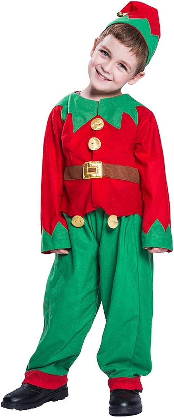 Disfraces de Navidad para niños Traje de Duende Disfraz de Elfo de ...