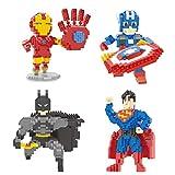 Wise Hawk Superheroes Minifigures Blocks Toys Pack of 4