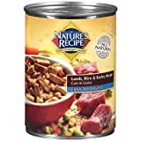 NATURE'S RECIPE 799896 12-Pack Cuts In Gravy Etd Lamb/Rice/Barley Can For Dog, 13.2-Ounce, My Pet Supplies