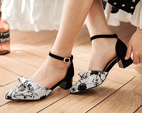 Escarpins Multicolore Fashion Aisun Imprim 233; Fleurs Femme Bout wCCqXSxZr