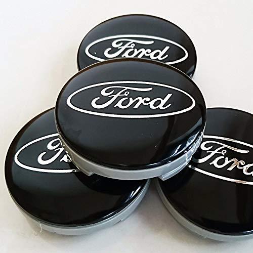 kil1 New 4Pcs Ford Black Center Wheel HUB CAPS Emblem Cover Cap CP9C-1A096-AA