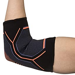 Kunto Fitness Elbow Brace Compression Support Sleeve for Tendonitis, Tennis Elbow, & Golf Elbow Treatment – Reduce Joint Pain During ANY Activity! (Medium)