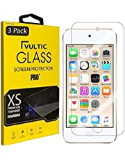 [3 Pack] Vultic iPod Touch (7th / 6th / 5th Gen) Screen Protector Tempered Glass [Case Friendly] Film Cover for Apple iPod Touch 5, iPod Touch 6, and iPod Touch 7