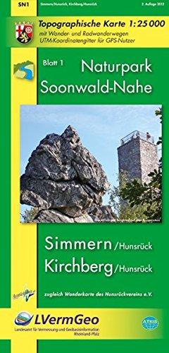 Naturpark Soonwald Nahe  Simmmern  Hunsrück   Kirchberg  Hunsrück   WR   Naturparkkarte 1 25000 Mit Wander  Und Radwanderwegen Mit Soonwald Steig  Freizeitkarten Rheinland Pfalz 1 15000  1 25000