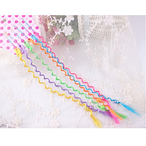 Girl Costume Paparazzi (Nylon Hair Hairpin Extension Snap On Children Party Assorted Colors (18)