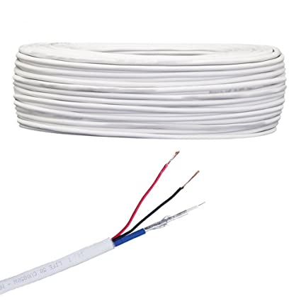 BOBINA DE CABLE COAXIAL LIFE CABLE DE VÍDEO MINI, COLOR BLANCO, CUBIERTA LSZH,