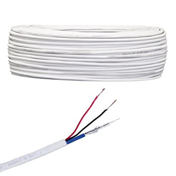 BOBINA DE CABLE COAXIAL LIFE CABLE DE VÍDEO MINI, COLOR BLANCO ...