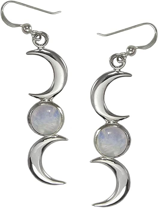 Retro Natural Rainbow Moonstone Jewelry Dangle Earrings Ea Women/'s I3W8 S9X1