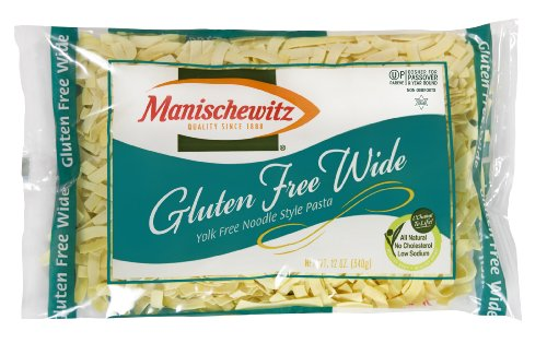 Manischewitz Noodle, Gold Wide Egg, Passover, 12-Ounce (Pack of 4)