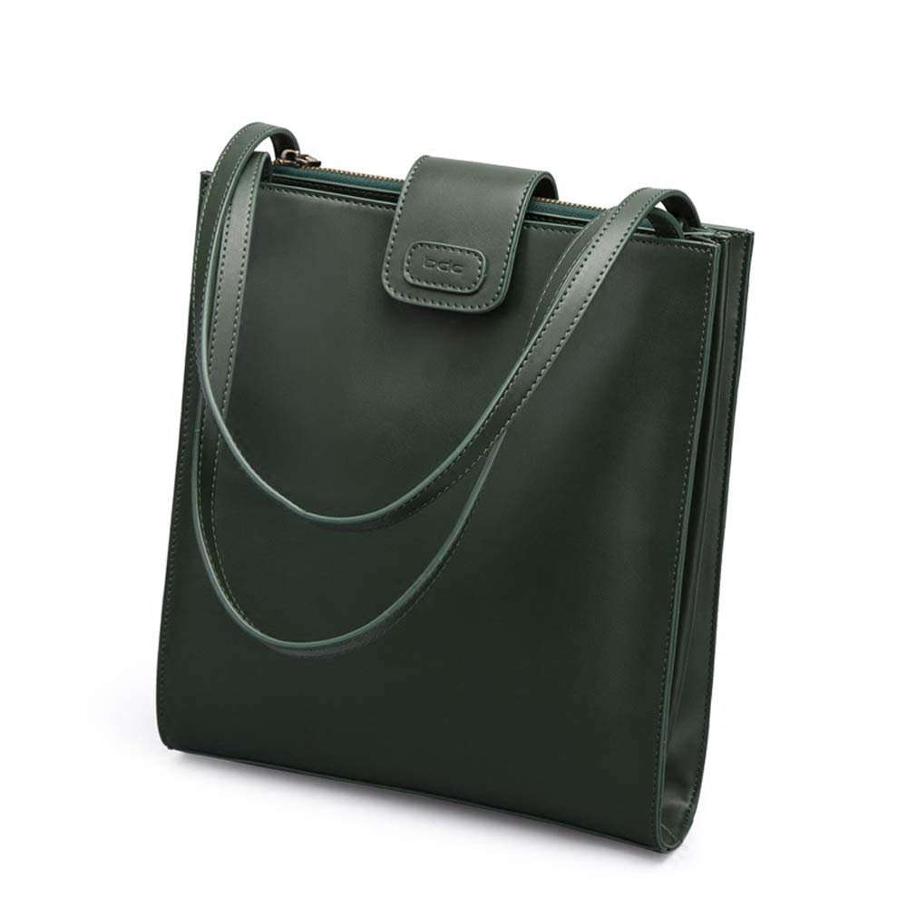 YD レディースPUレザーバッグシンプルな多目的ショルダーバッグ斜めのクロスバッグメザニン付きの大きなクリップ - 磁気バックル女性のバッグ[2色オプション] /& (色 : 濃い緑色) B07PZWJ445 濃い緑色