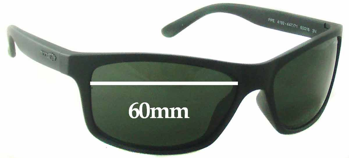 SFX Replacement Sunglass Lenses fits Arnette Pipe AN4192 60mm Wide