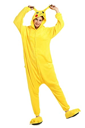 Pijama unisex de una sola pieza con diseño de Pikachu, para adultos.
