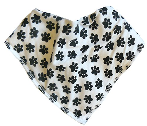 Bandana Pup (Single Baby Bandana Dribble Bib 100% Cotton with Fleece Lining, Mult - Mucky Pup)
