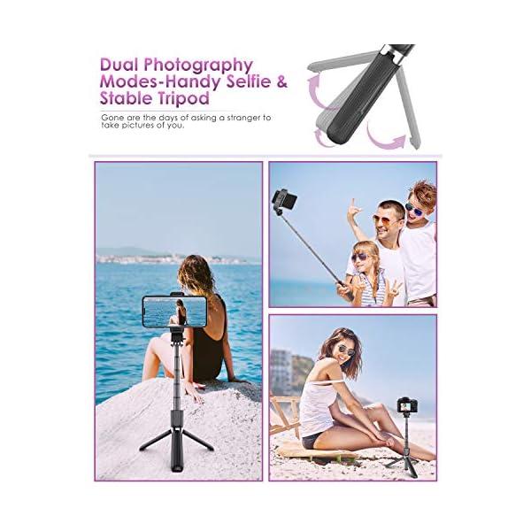 ELEGIANT Bastone Selfie Wireless, 4 in 1 Asta Selfie Stick Bluetooth con Treppiede per Camera Gopro 3,7-6,8 Pollici Cellulare iPhone 11 XS Max XR x 8s Samsung Galaxy S20 s10 s8 Huawei P30 P20 PRO 2 spesavip