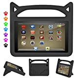 "PC Hardware : Kindle Fire HD 8 Kids Case, Roasan Super Protection Light Weight Handle Shockproof Screen Protector for Amazon Fire HD 8 (7th 2017/6th 2016) 8"" Tablet (Fire HD 8, Black)"