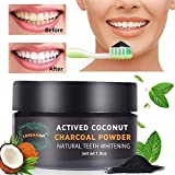 Teeth Whitening,Activated Charcoal Powder,Safe Effective Tooth Whitener Solution Eliminates Bad Breath,Coffee & Tea Stains,Stronger and Sparkling Smile Fresh Mint Flavor