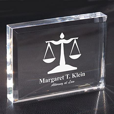 Lawyer Personalized Keepsake Paperweight, 3in by 4in, Acrylic
