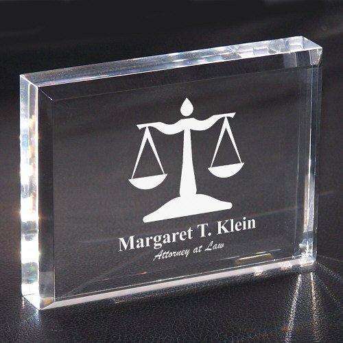 GiftsForYouNow Lawyer Personalized Keepsake Paperweight, 3