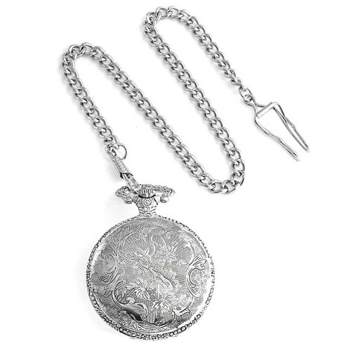 Bling Jewelry Large Antique Style Motorcycle Biker Mens Pocket Watch Rhodium Plated by Bling Jewelry (Image #3)