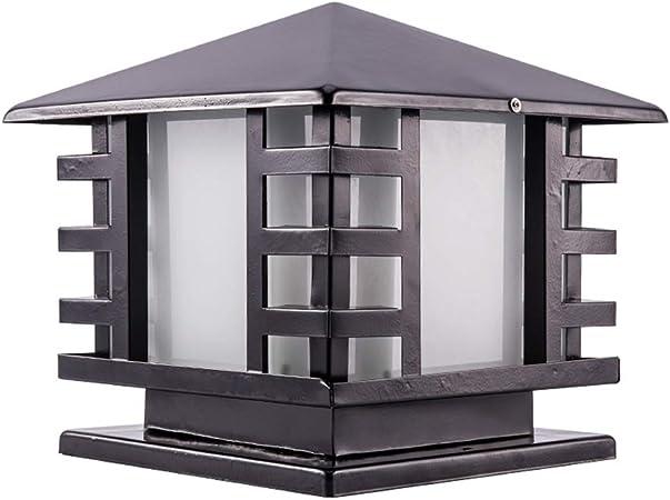 FAC-DOOR Lámpara de Pilar E27 Columna de la Puerta Exterior Patio Luz de Pared Jardín Villa Casa Lámpara de Puerta de Pared Impermeable al Aire Libre (Tamaño : 20cm): Amazon.es: Hogar