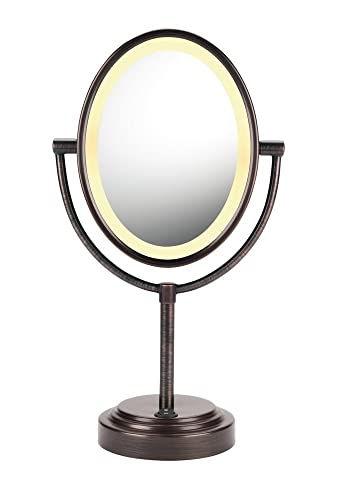 Amazon conair double sided lighted makeup mirror lighted conair double sided lighted makeup mirror lighted vanity makeup mirror 1x7x aloadofball Gallery