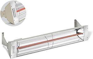 Infratech W-4024 4,000 Watt, 240 Volt Single Element Electric Patio Heater, Beige Powder Coated Finish