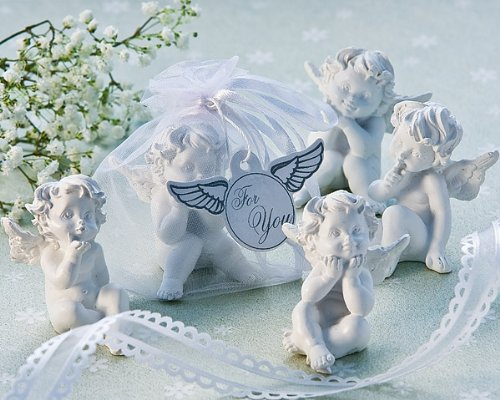 "Artisano Designs ""Little Angel"" Cherub Figurine Favors, Set of 4"
