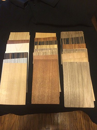 (Ship from USA) 12 to 14 sq.ft. OF Exotic Wood Veneer Mixed Wood 60 or more 8