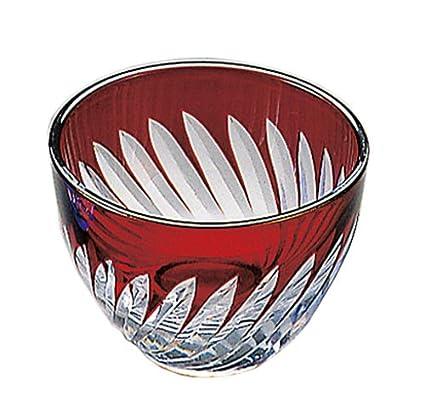 Sake Cup of Cut Glass Blue YOUBI