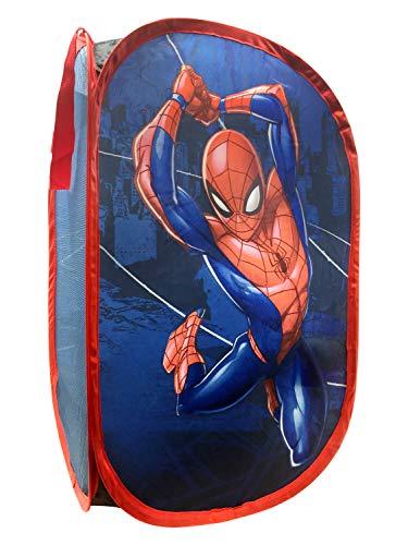 Jay Franco Marvel Spiderman Web Sling Pop Up Hamper - Mesh Laundry Basket/Bag with Durable Handles, 22
