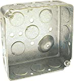 """Raco 8190 4"""" Square Outlet Box with 1/2"""" KO"""
