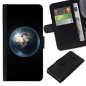 // PHONE CASE GIFT // Moda Estuche Funda de Cuero Billetera Tarjeta de crédito dinero bolsa Cubierta de proteccion Caso Samsung Galaxy A3 / Space Planet Galaxy Stars 29 /