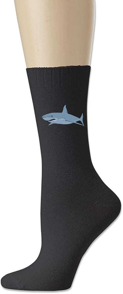 Moyhza Shark_PNG_Clipart_Image-450 Unisex Novelty Funny Cotton Warm Crew Socks